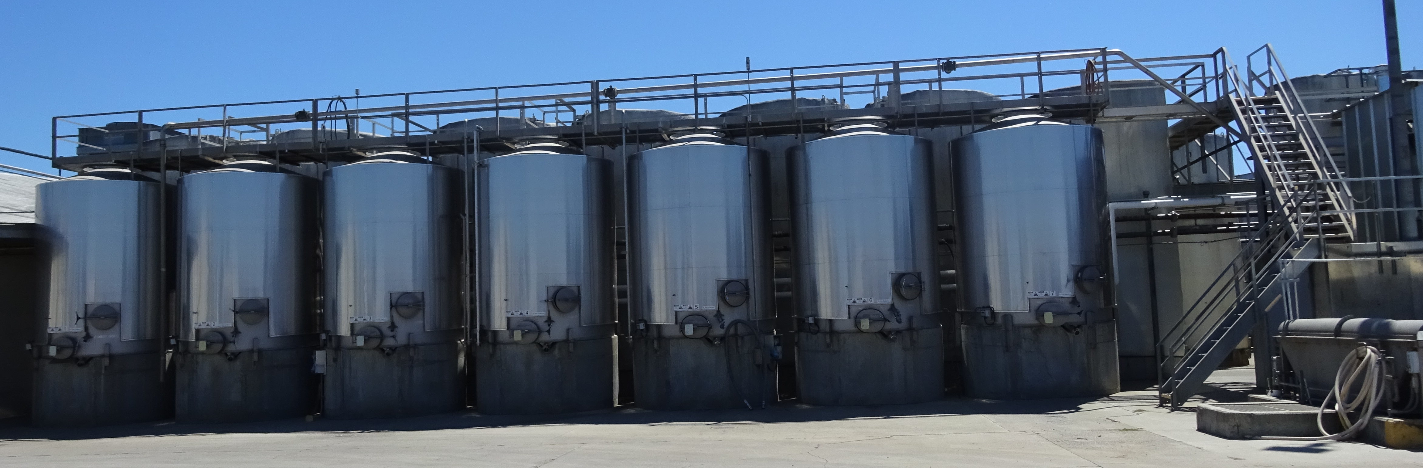 wine tanks in California wine country